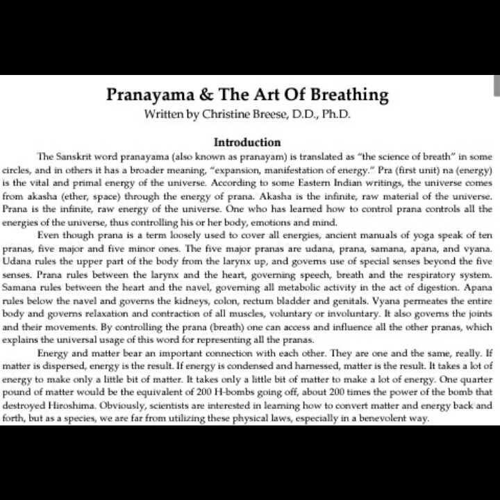 Pranayama The Art of Breathing Pdf | Juaniam13